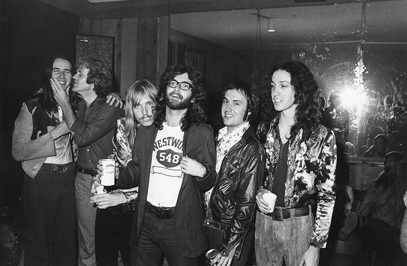 Mudcrutch with Denny Cordell, 1975: Danny Roberts, Cordell, Petty, Benmont Tench, Randall Marsh, Mike Campbell
